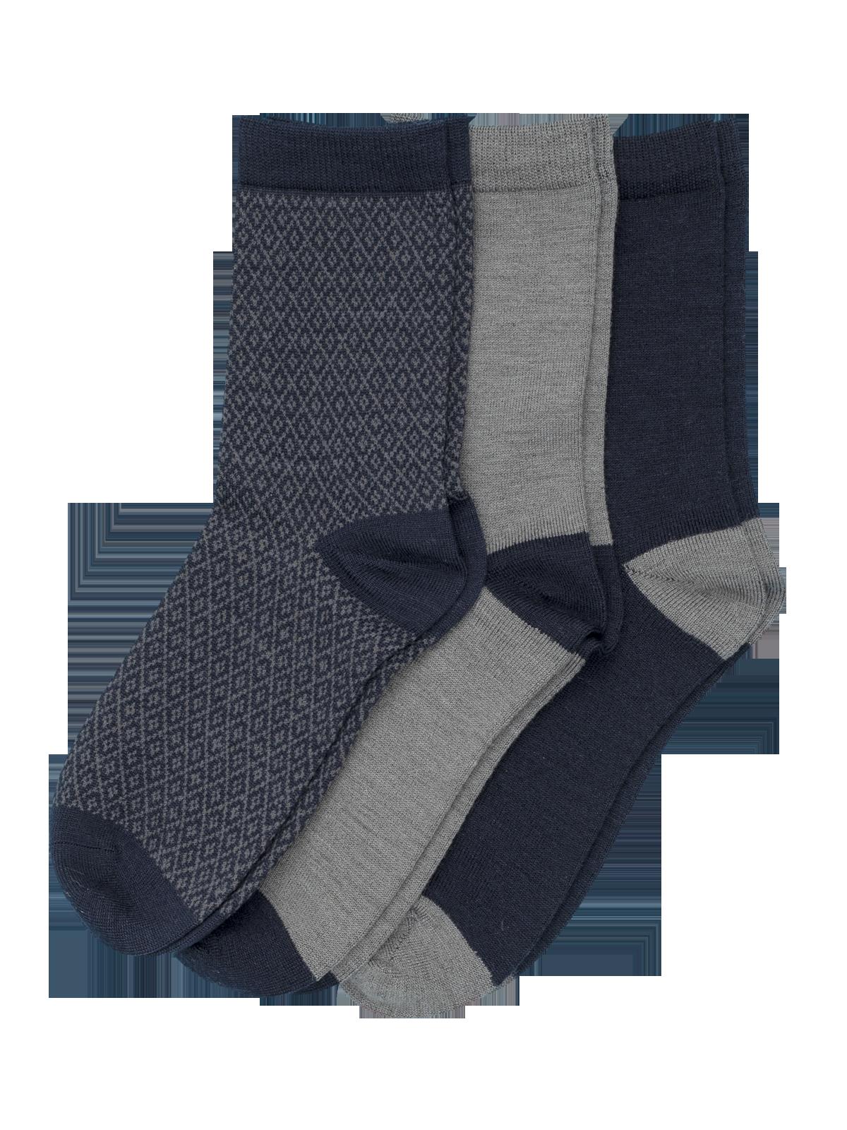 Wool Sock Everyday Harmaa/Sininen