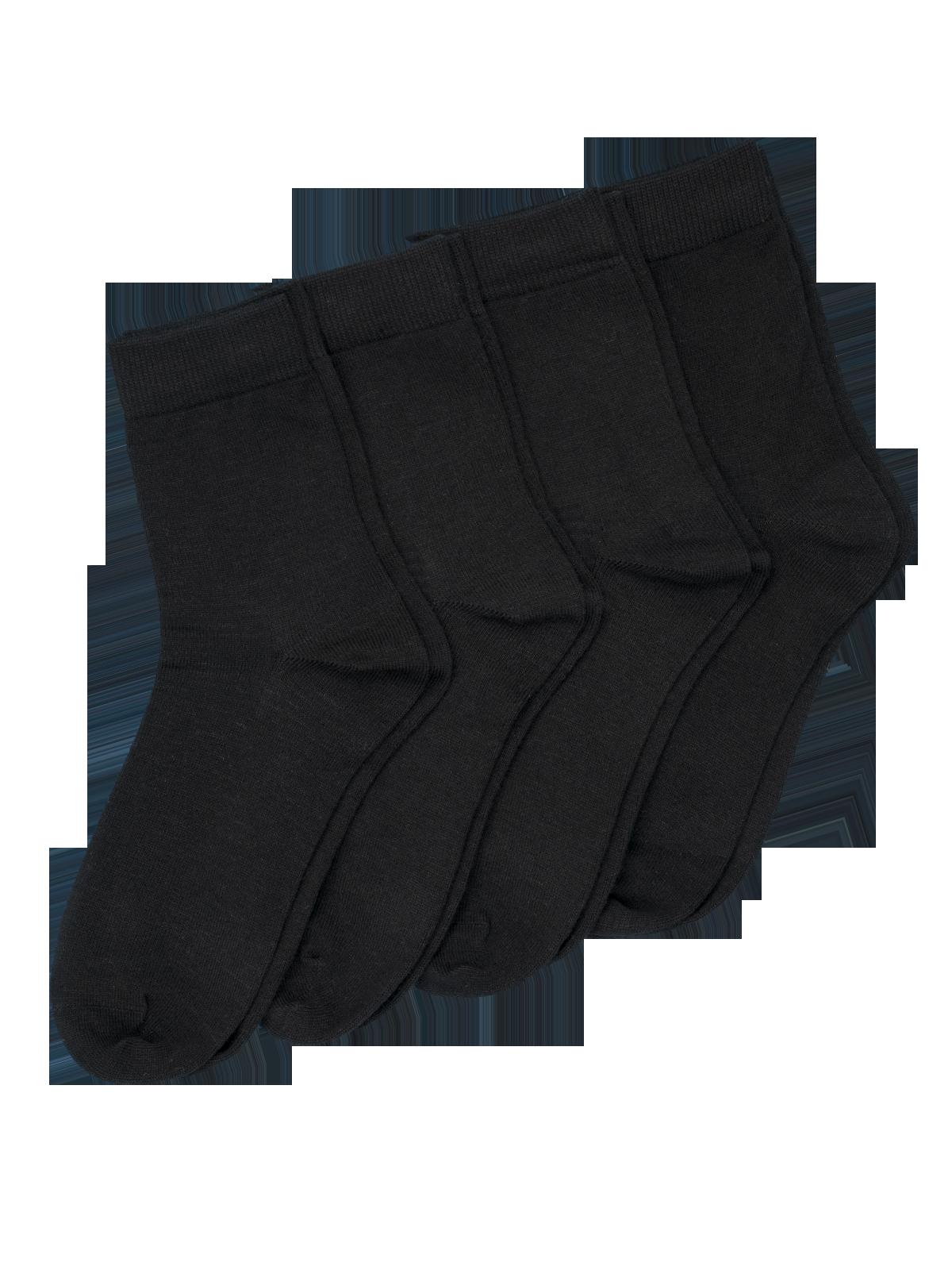 Coolmax Sock Basic 4-p Svart