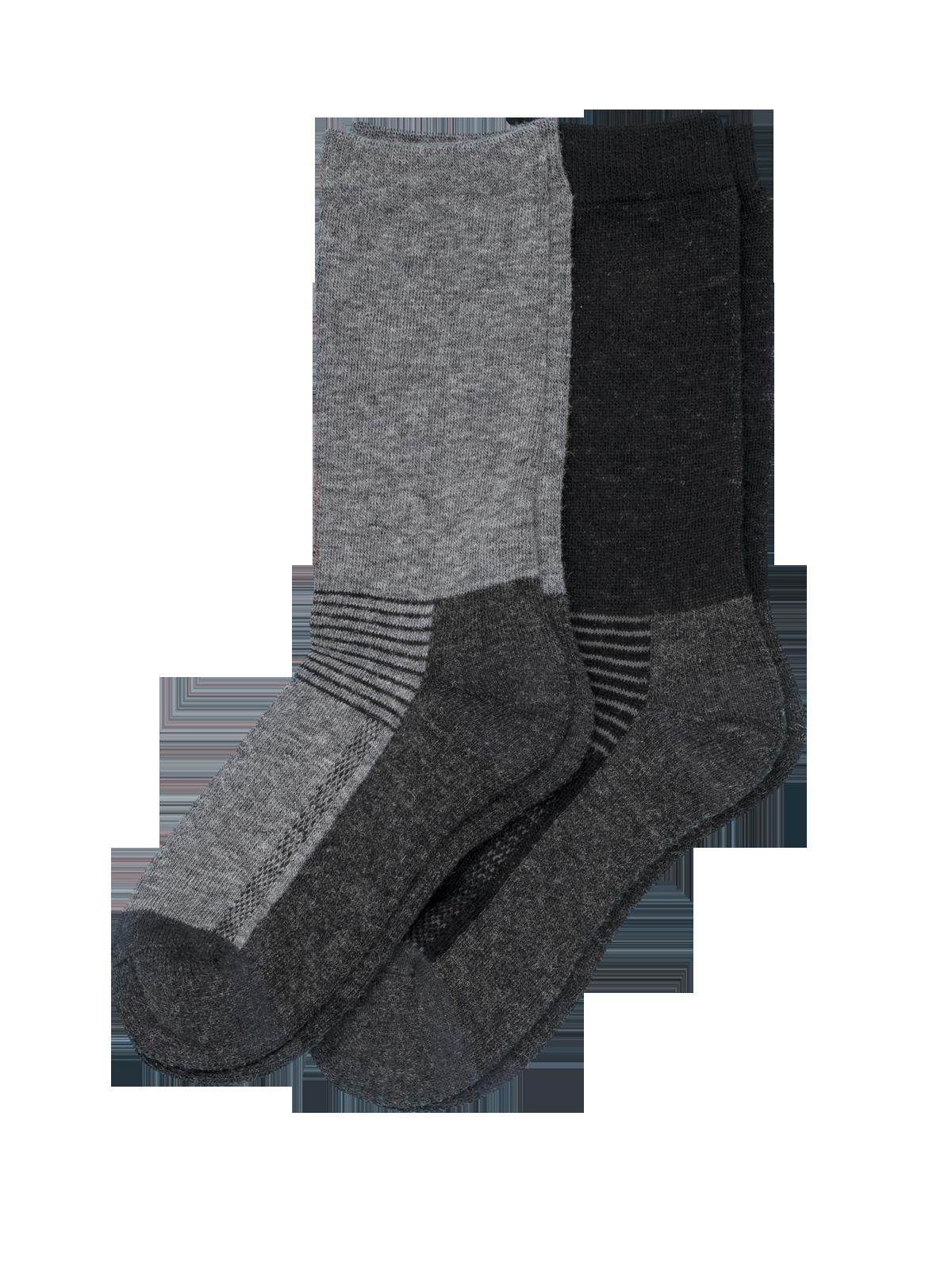 Wool Sock Active 2-p Svart/Grå