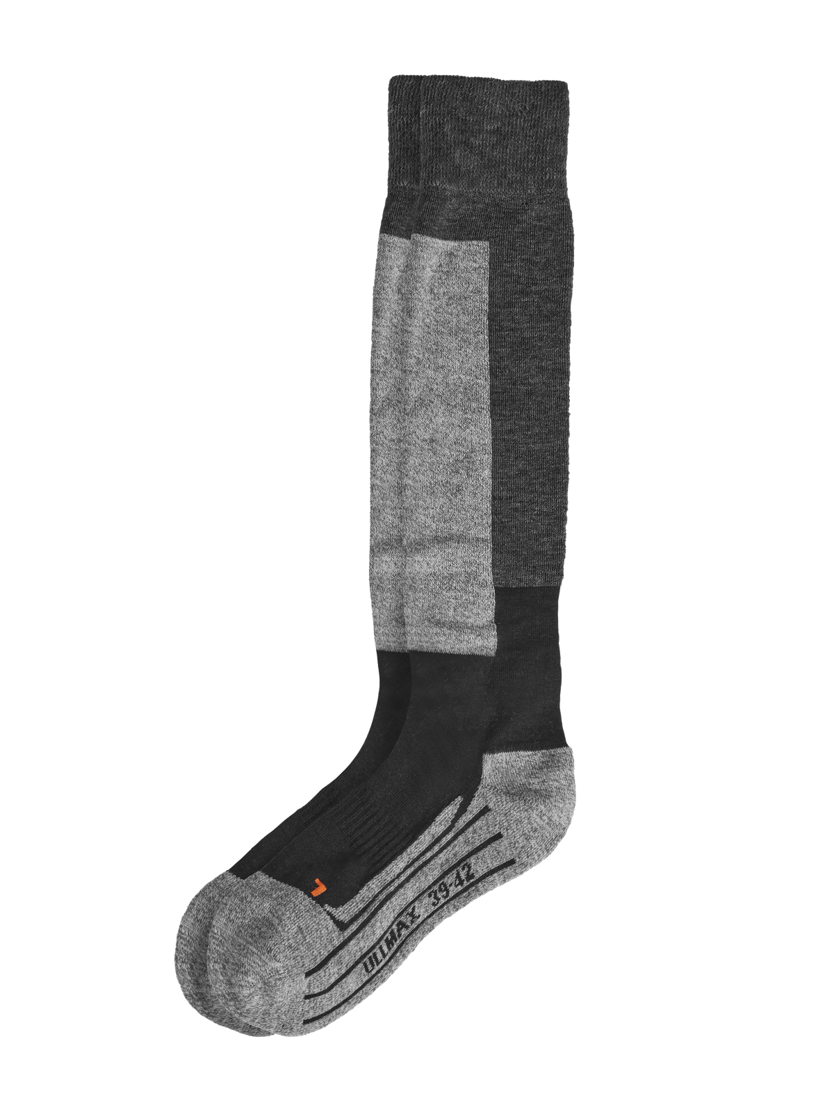Wool Ski Sock 1-p Mörkgråmelange