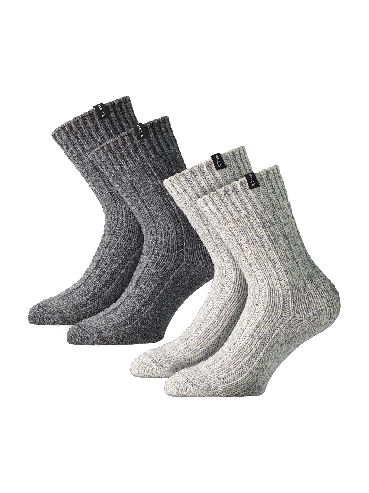 Knitted Wool Sock 2-p Grå
