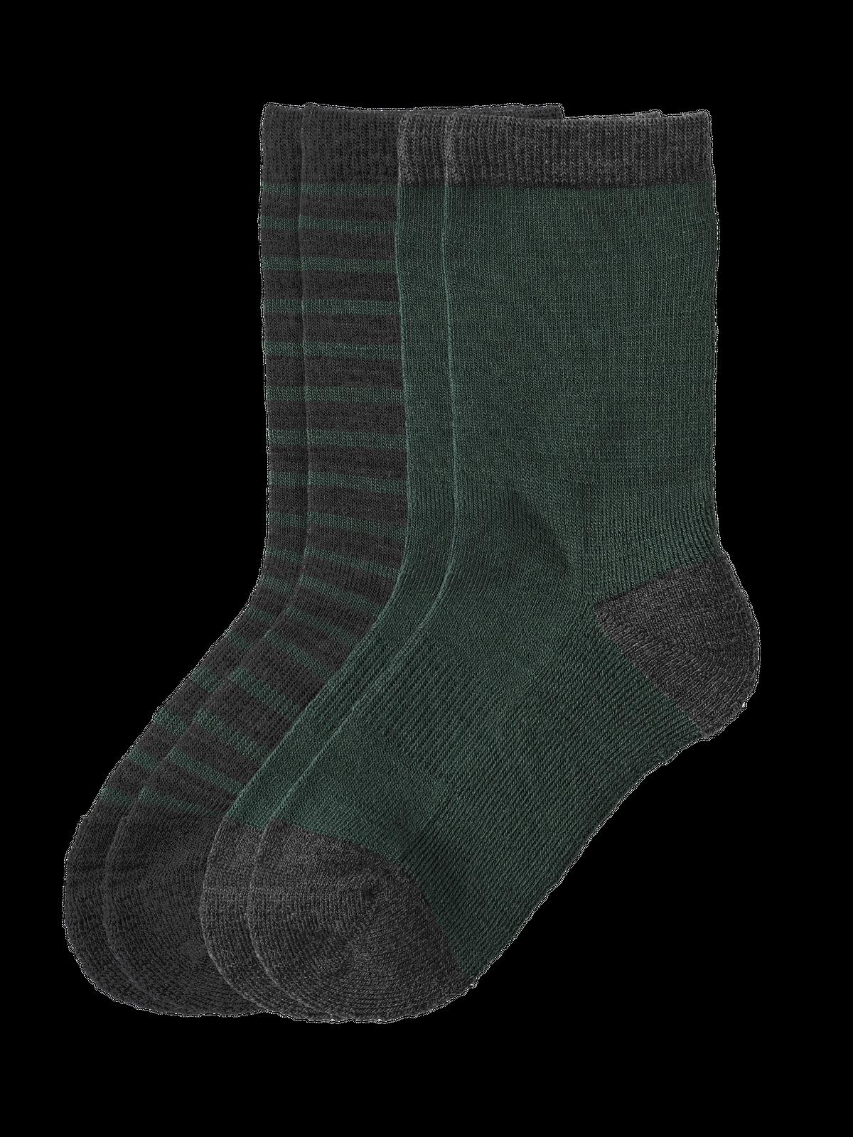 Wool Sock Kids 2-p Grön