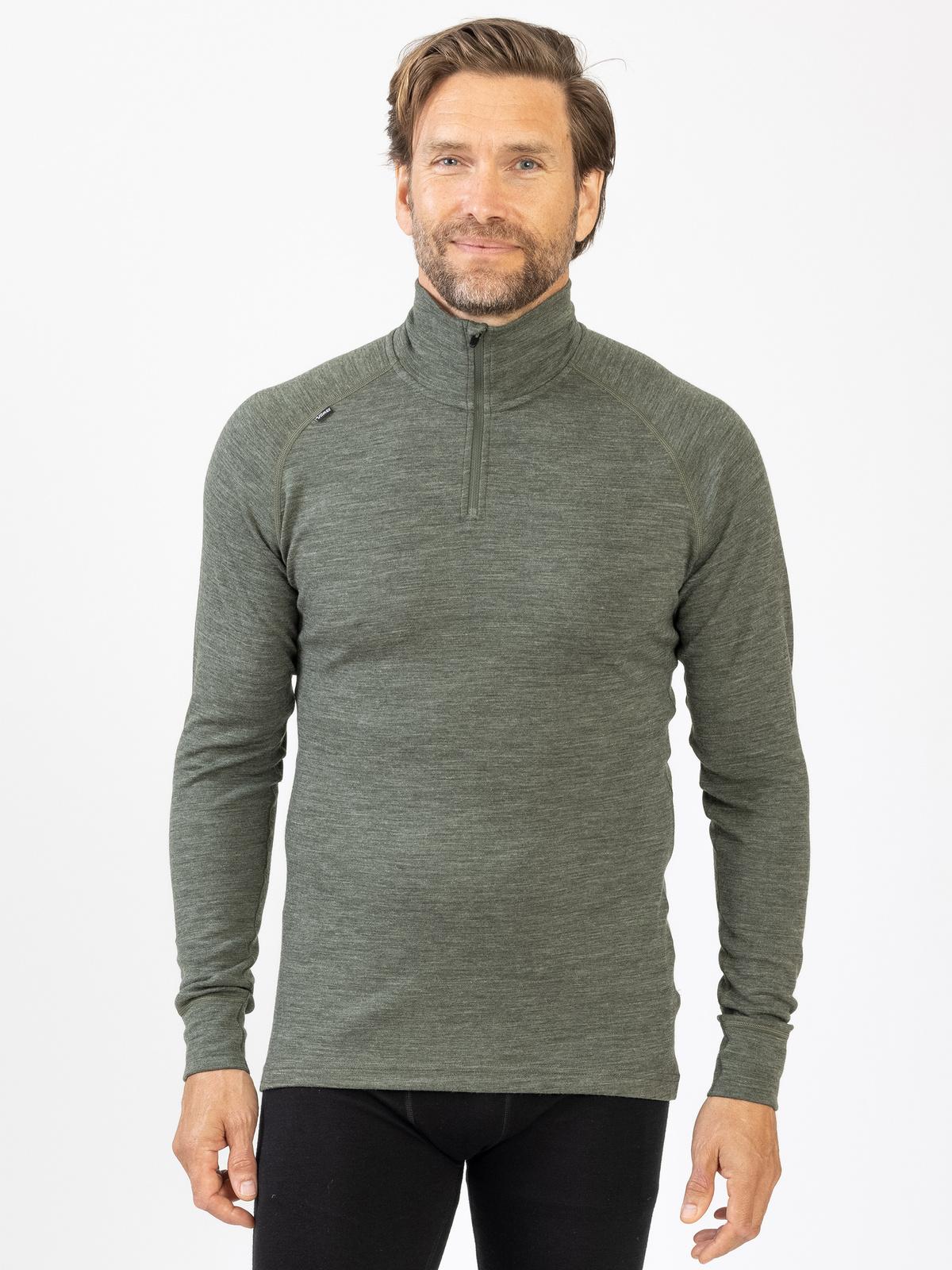 Merino Super Soft ½ Zip Men Grön