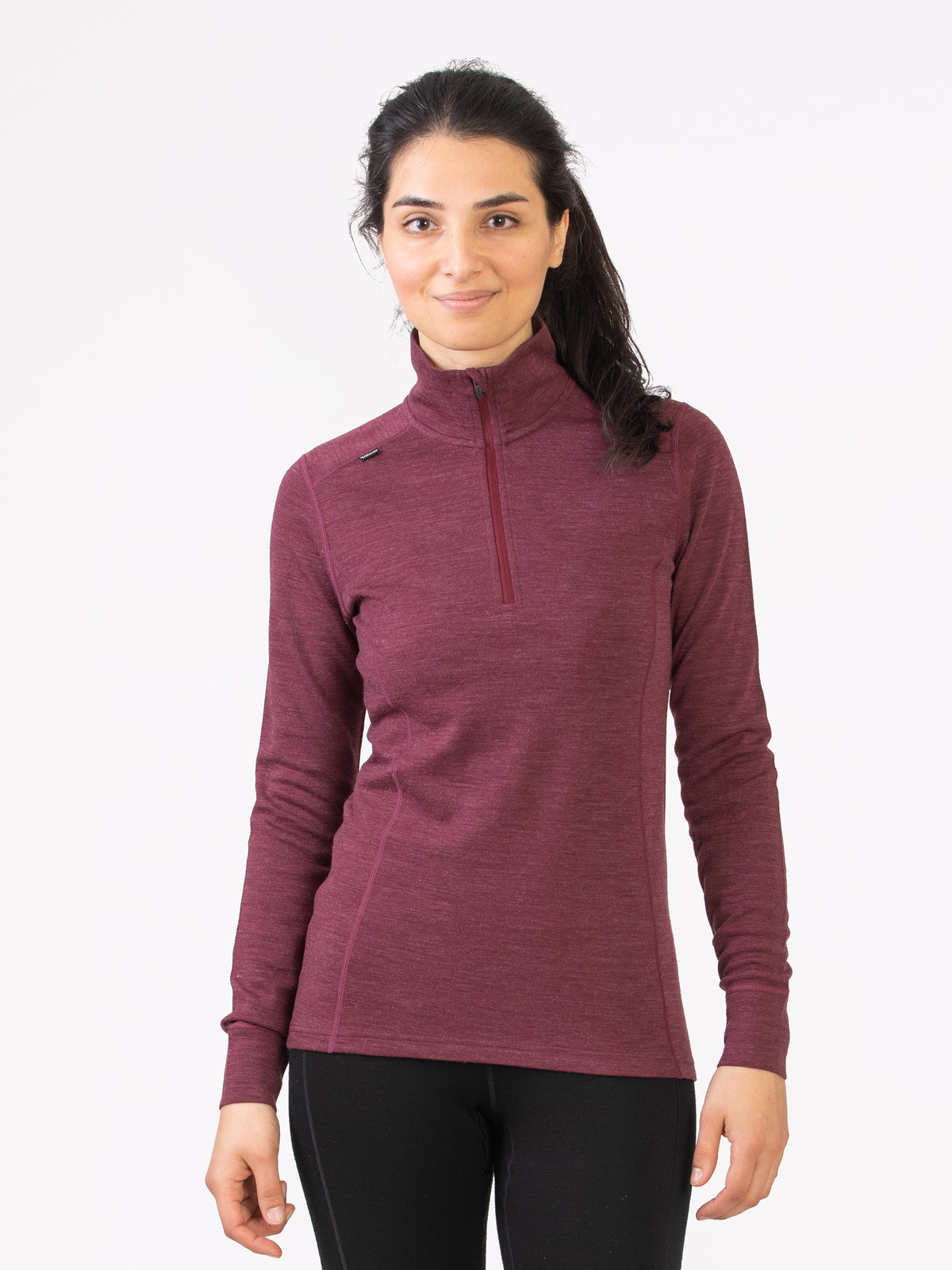 Merino Super Soft ½ Zip Women Röd