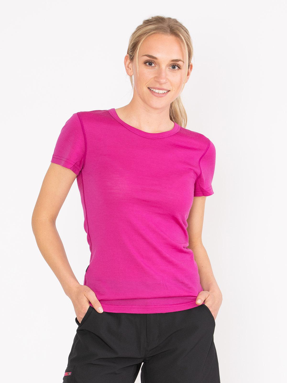 Merino Fine T-Shirt Women Rosa