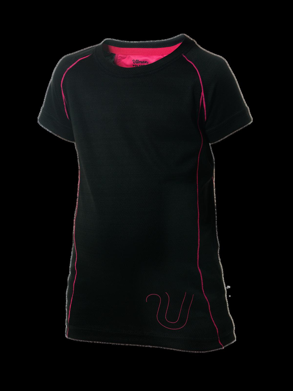 Polypro T-shirt Kid  Svart/Rosa