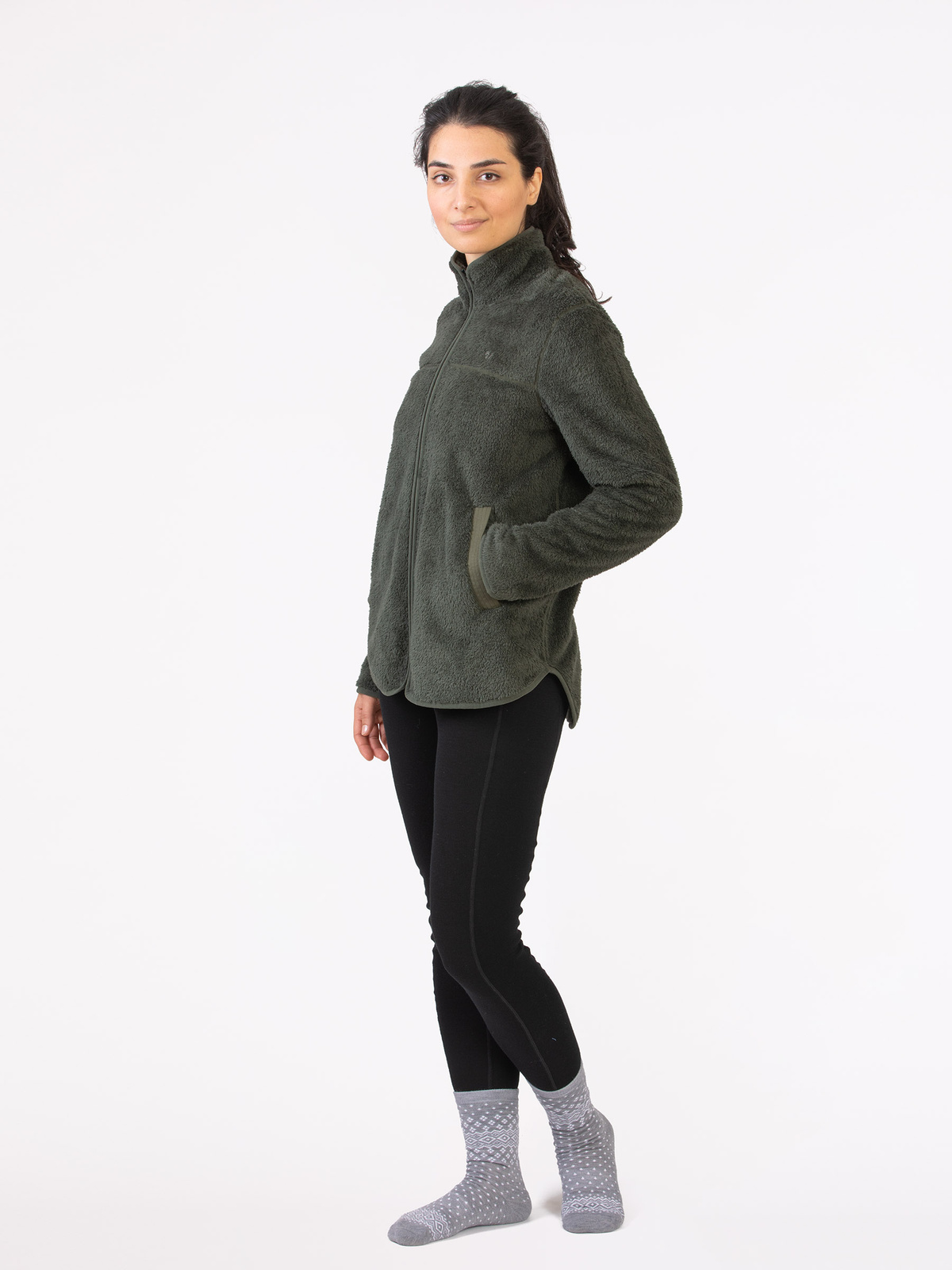 Classic Pile Jacket Grön