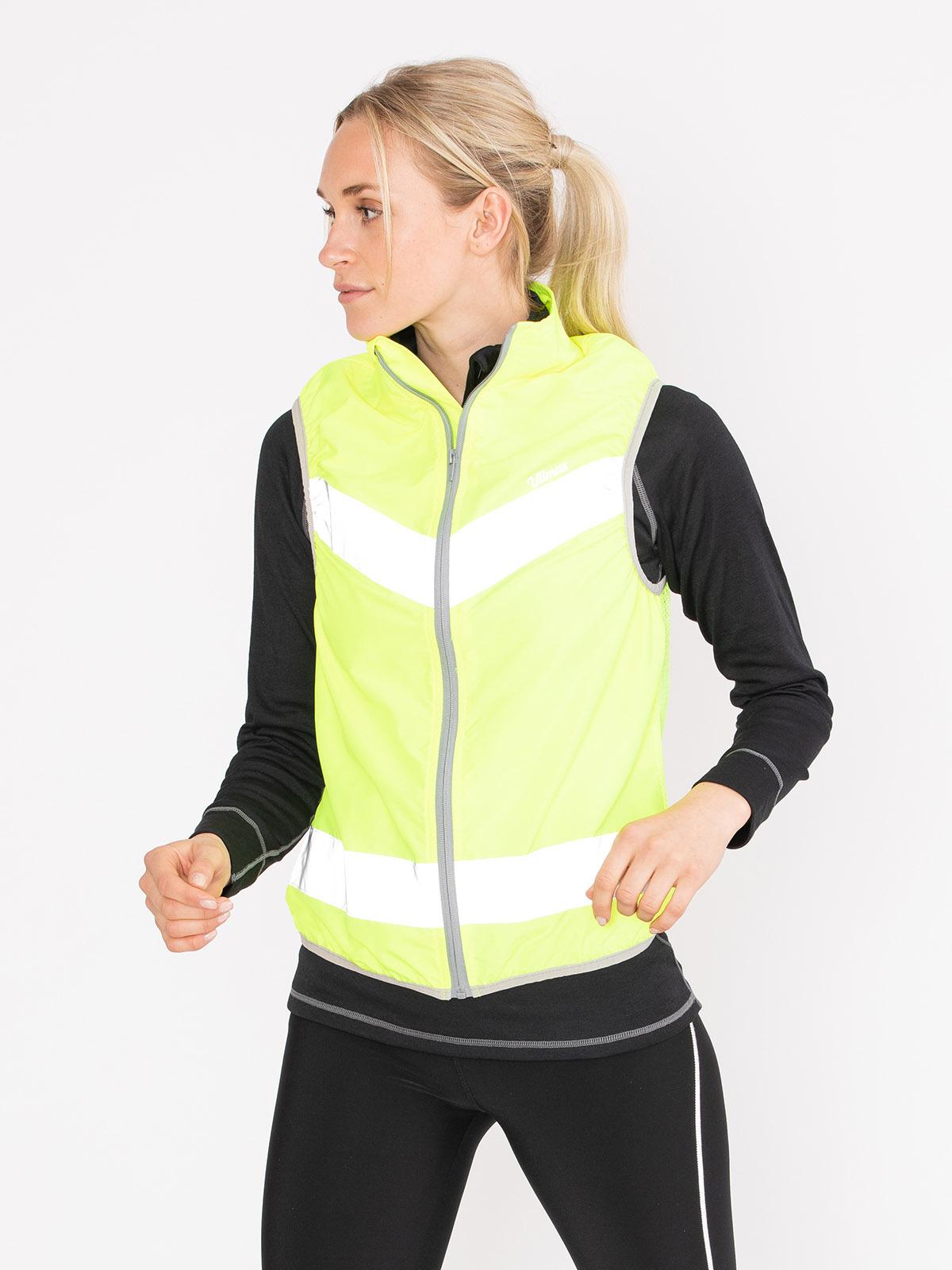 Reflective Wind Vest Women Neongul