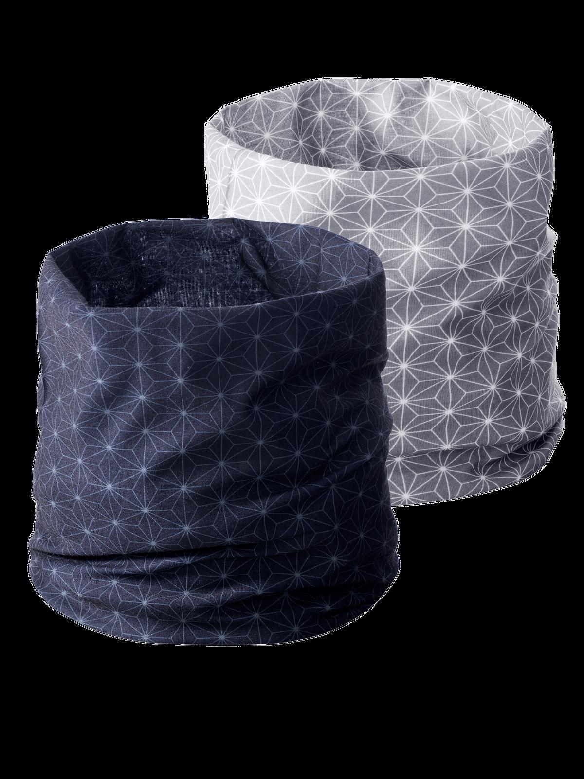 Multi Headwear Star 2-p Tummansininen/Harmaa