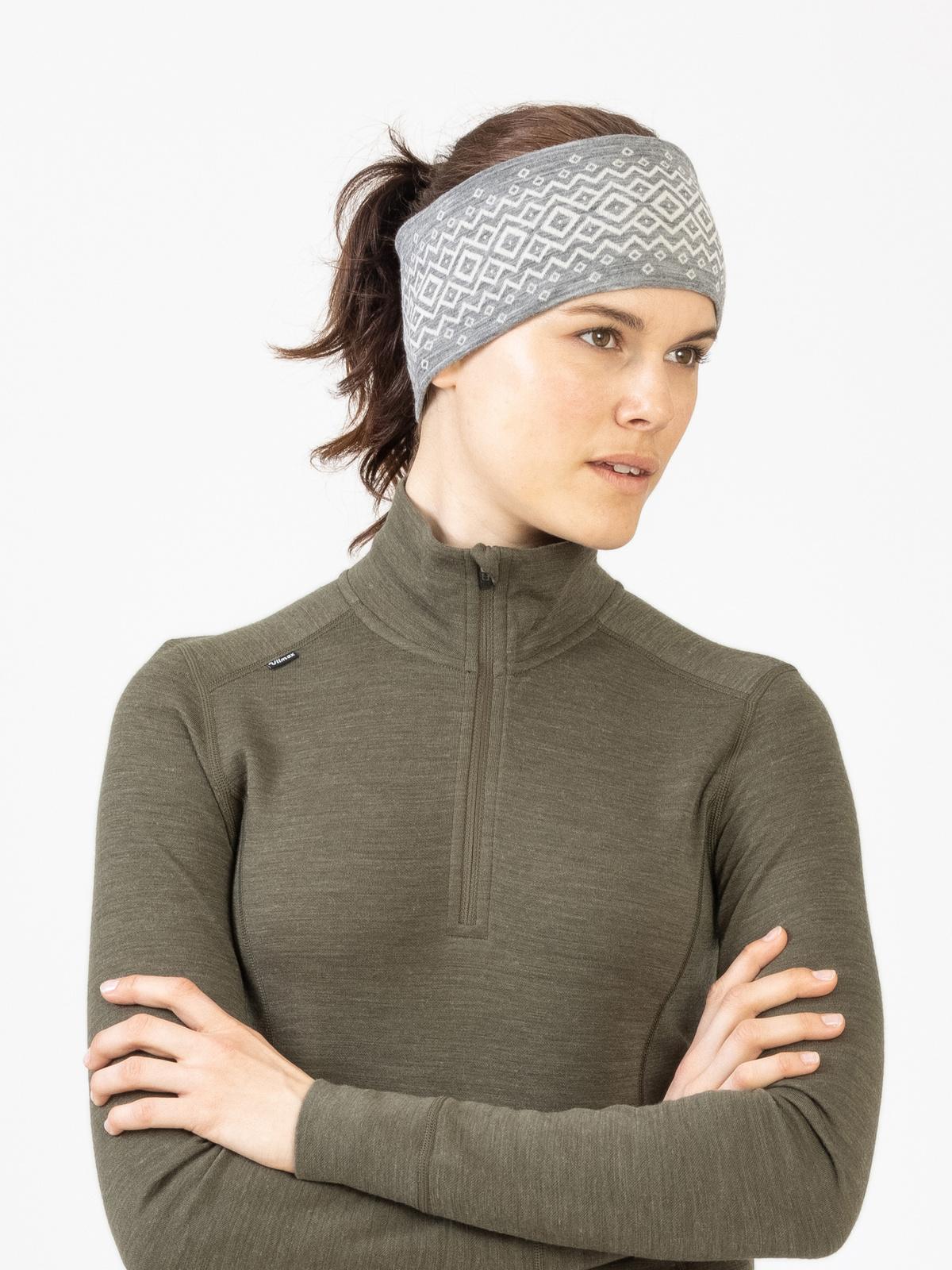 Merino Wool Headband Grå