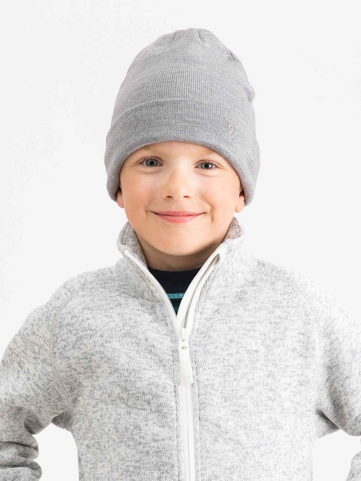 Knitted Hat Kids  Grå