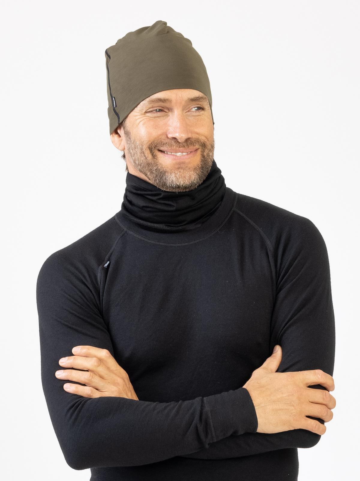 Active Wool Hat Women Khakigrön