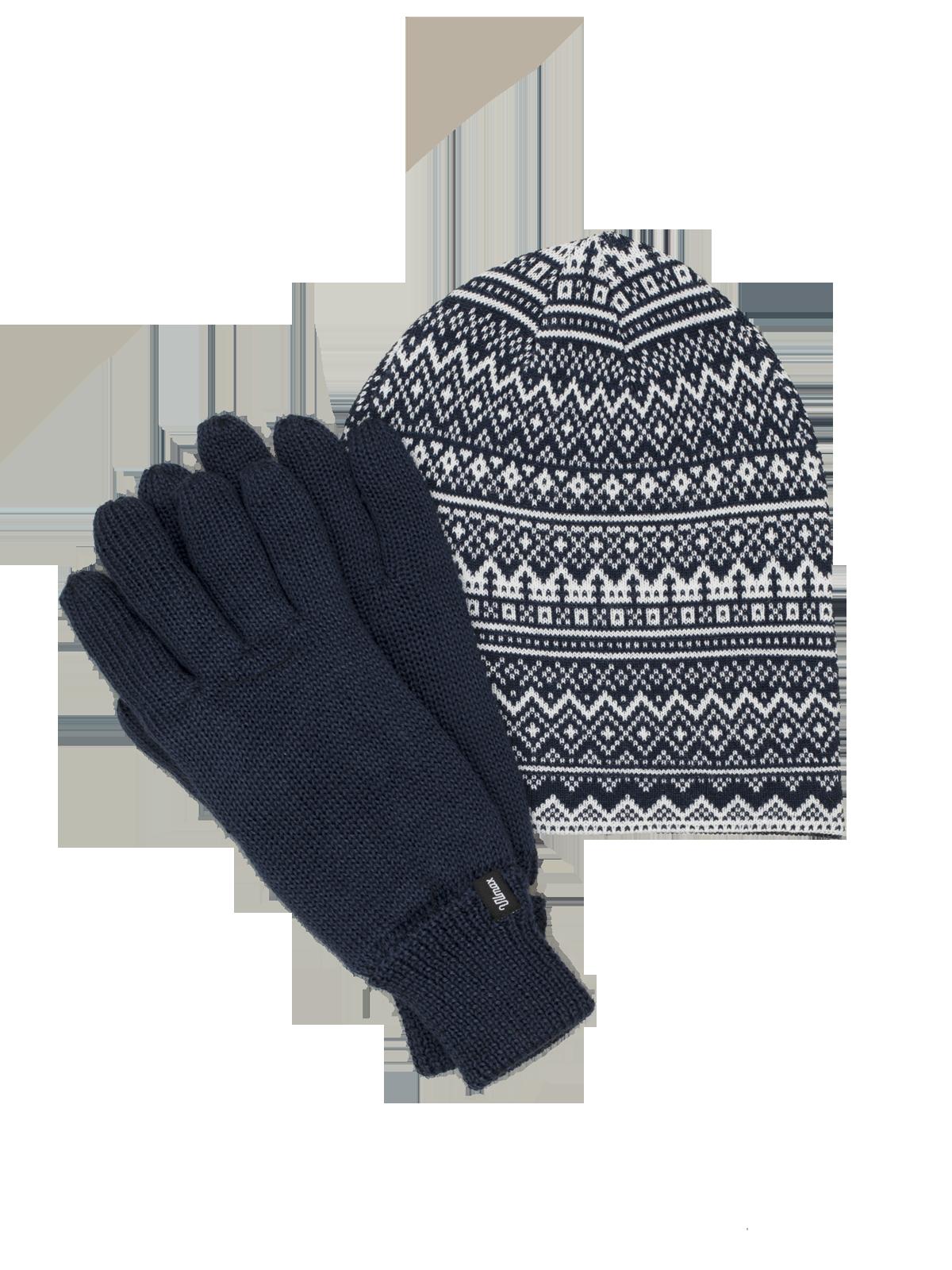 Hat & Glove Set Blå