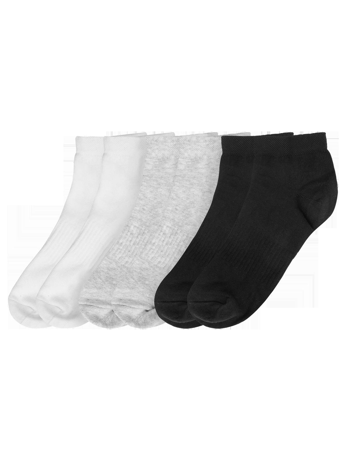 Ankle Socks 6-p Svart/Grå/Vit