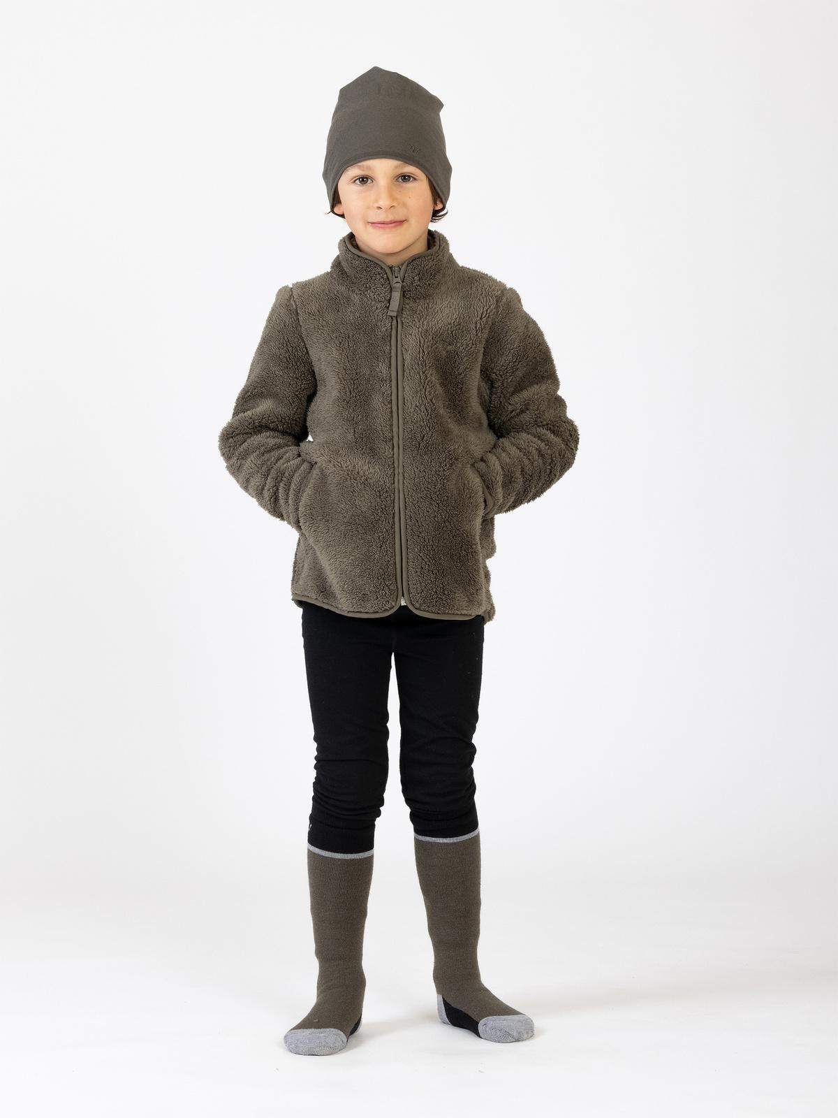 Classic Pile Jacket Kids Khakivihreä